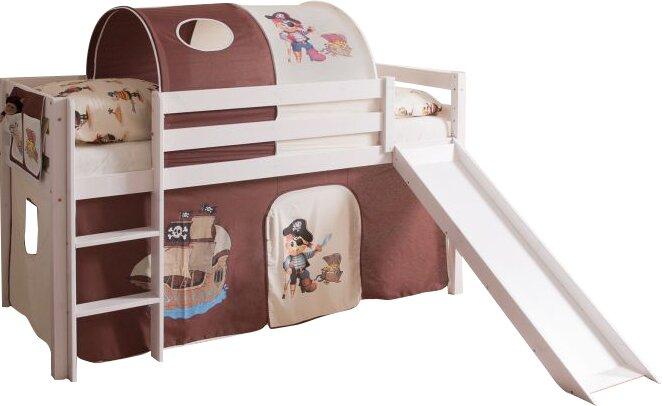 Ticaa Etagenbett Pirat : Ticaa etagenbett ´´kenny g´´ schrägleiter buche massiv weiß