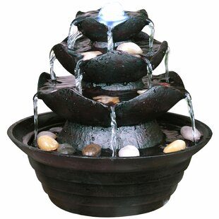 Thomaston Resin Cascade Fountain With Light By Sol 72 Outdoor