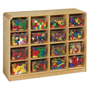16 Compartment Cubby with Casters By Korners for Kids
