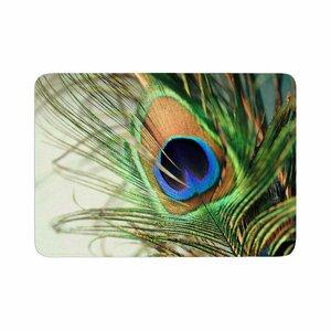 Sylvia Cook Peacock Feather Memory Foam Bath Rug