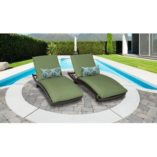 Meier Curved Chaise Lounge with Cushion (Set of 2)