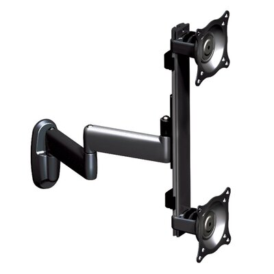 Flat Panel Dual Vertical Monitor Arm 2 Screen Wall Mount Chief Finish: Black