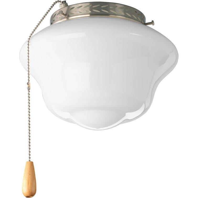 Winston Porter 1 Light Ceiling Fan Schoolhouse Light Kit Wayfair