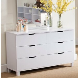 Clark Spacious Glossy 6 Drawer Dresser by Ivy Bronx