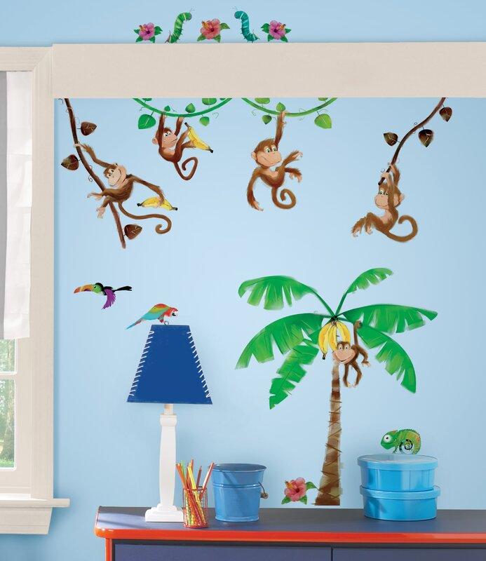 Room Mates Studio Designs Monkey Business Wall Decal & Reviews | Wayfair