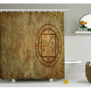 Celesse Ancient Textured Paper Shower Curtain + Hooks