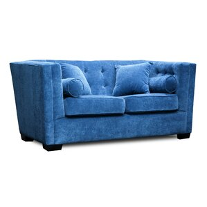 Celeste Chesterfield Loveseat by Uniquely Furnished