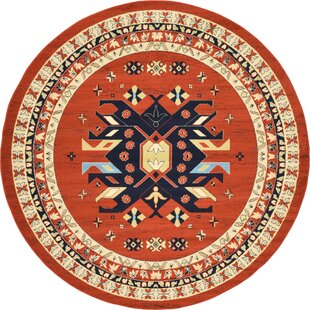 Zoey Hand-Tufted Terracotta Area Rug by World Menagerie