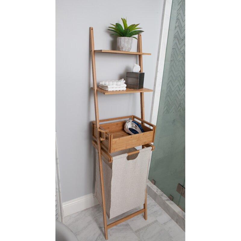 Bamboo Shelf Laundry Basket