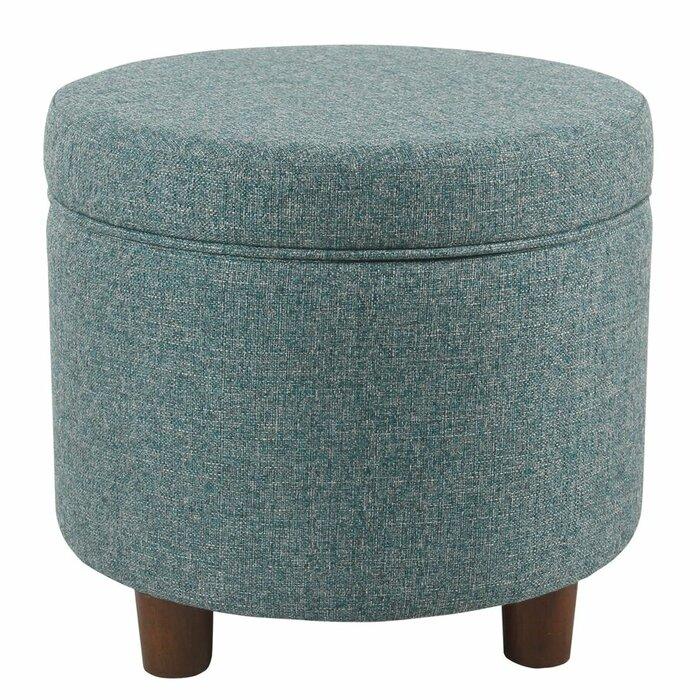 Terrific Yarmouth Round Storage Ottoman Machost Co Dining Chair Design Ideas Machostcouk