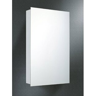 Best Reviews Theon Edge Mirror Door 20 x 14 Surface Mount Frameless Medicine Cabinet By Symple Stuff
