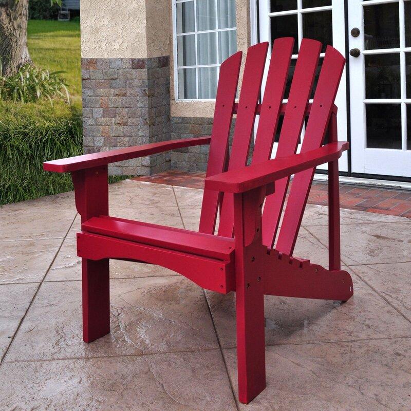 Aubriana Solid Wood Adirondack Chair