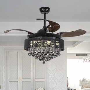 Retractable blades ceiling fans youll love wayfair save aloadofball Gallery