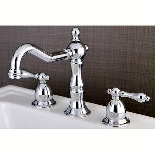 Kingston Brass Heritage Widespread Bathroom Faucet with Brass Pop-Up Drain