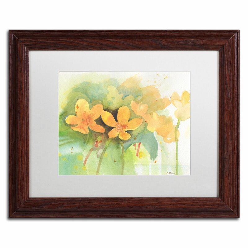 Trademark Art Marigold Moment By Sheila Golden Framed Painting Print Wayfair