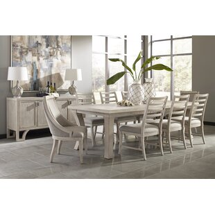 Graphite 9 Piece Extendable Solid Wood Dining Set