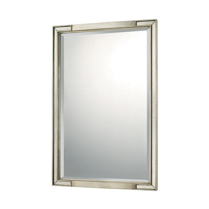 Willa Arlo Interiors Dhruv Winter Gold Decorative Accent Wall Mirror Wayfair