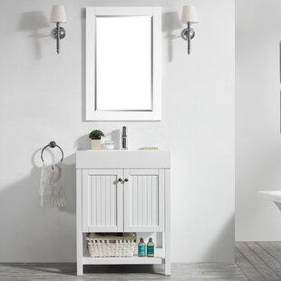 Harward 28 Single Bathroom Vanity Set with Mirror by Highland Dunes