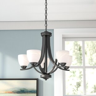 Crofoot 5 Light Shaded Chandelier
