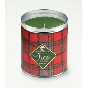 Holiday Plaid Famous Pine Scented Jar Candle