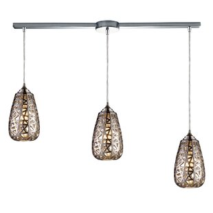 Freeda 3-Light Cluster Pendant by Bungalow Rose