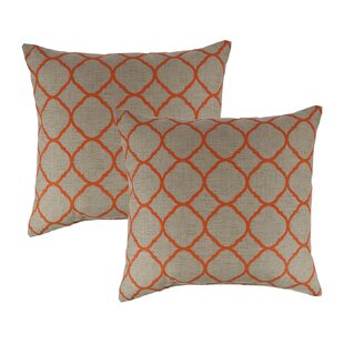 Accord Koi Outdoor Sunbrella Throw Pillow (Set of 2)