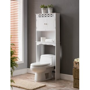 Medved 2375 W x 6275 H x 7875 D Solid Wood FreeStanding Over the Toilet Storage