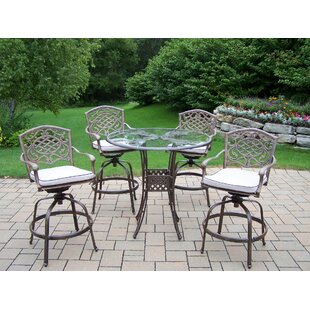 Hummingbird Mississippi 5 Piece Bar Height Dining Set with Cushions