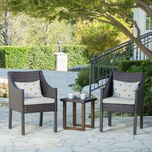 Delrico 3 Piece Conversation Set with Cushions by Union Rustic