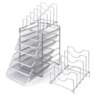Rebrilliant Bourn 3-Tier Stackable Desktop Letter File Tray Organizer