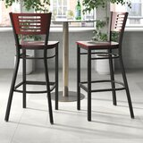 Chafin Slat Back 30 Bar Stool by Winston Porter