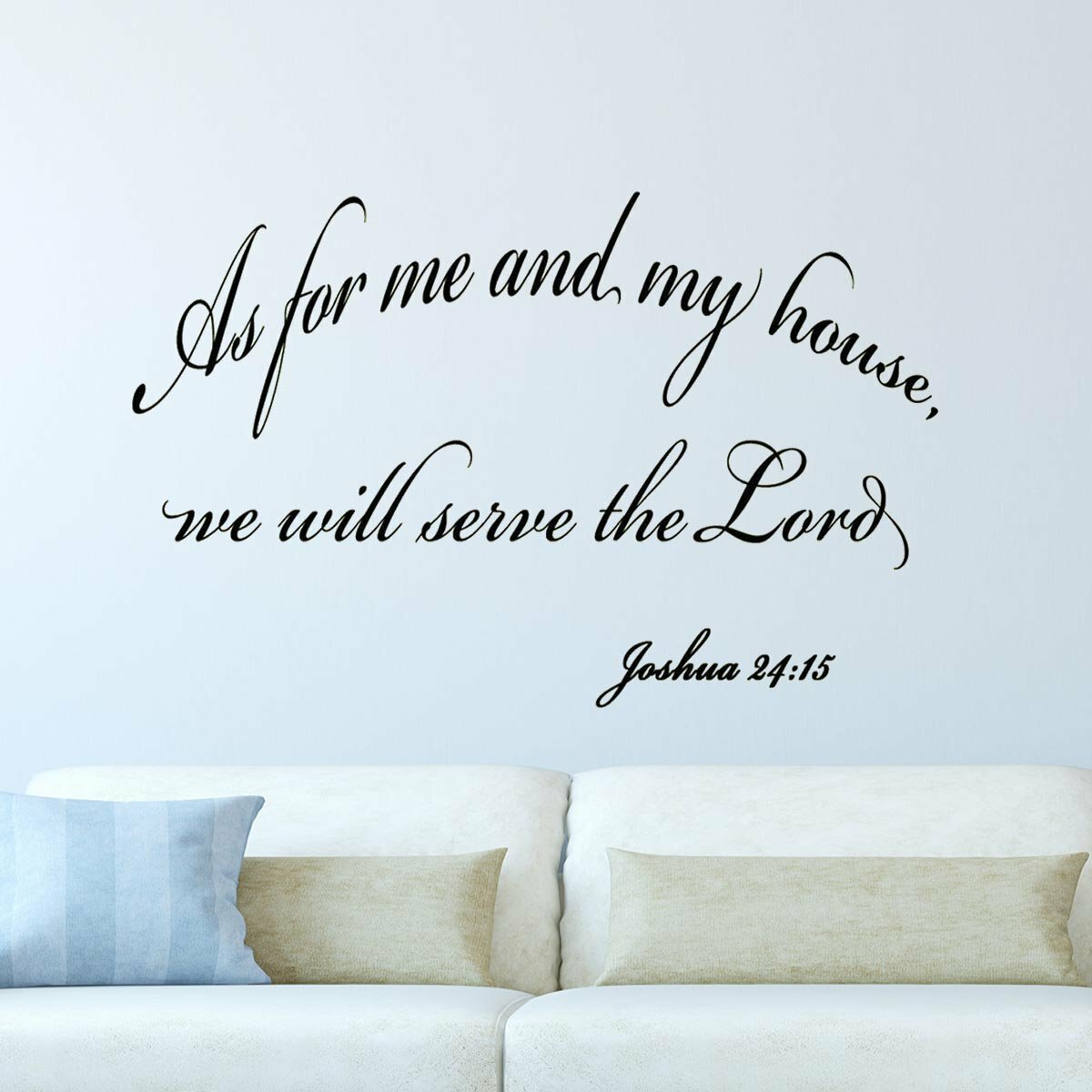 As For Me And My House We Will Server The Lord Vinyl Wall Decal Sticker Bible