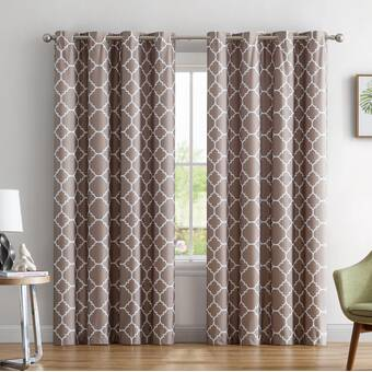 Alcott Hill Yeates Moroccan Geometric Max Blackout Thermal Grommet Curtain Panels Reviews Wayfair