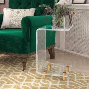 Willa Arlo Interiors Neves Acrlylic C Shape End Table