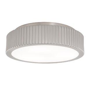Ebern Designs Kraft 3-Light Flush Mount
