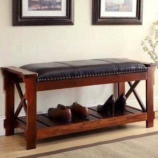Wood Upholstered Storage Bench