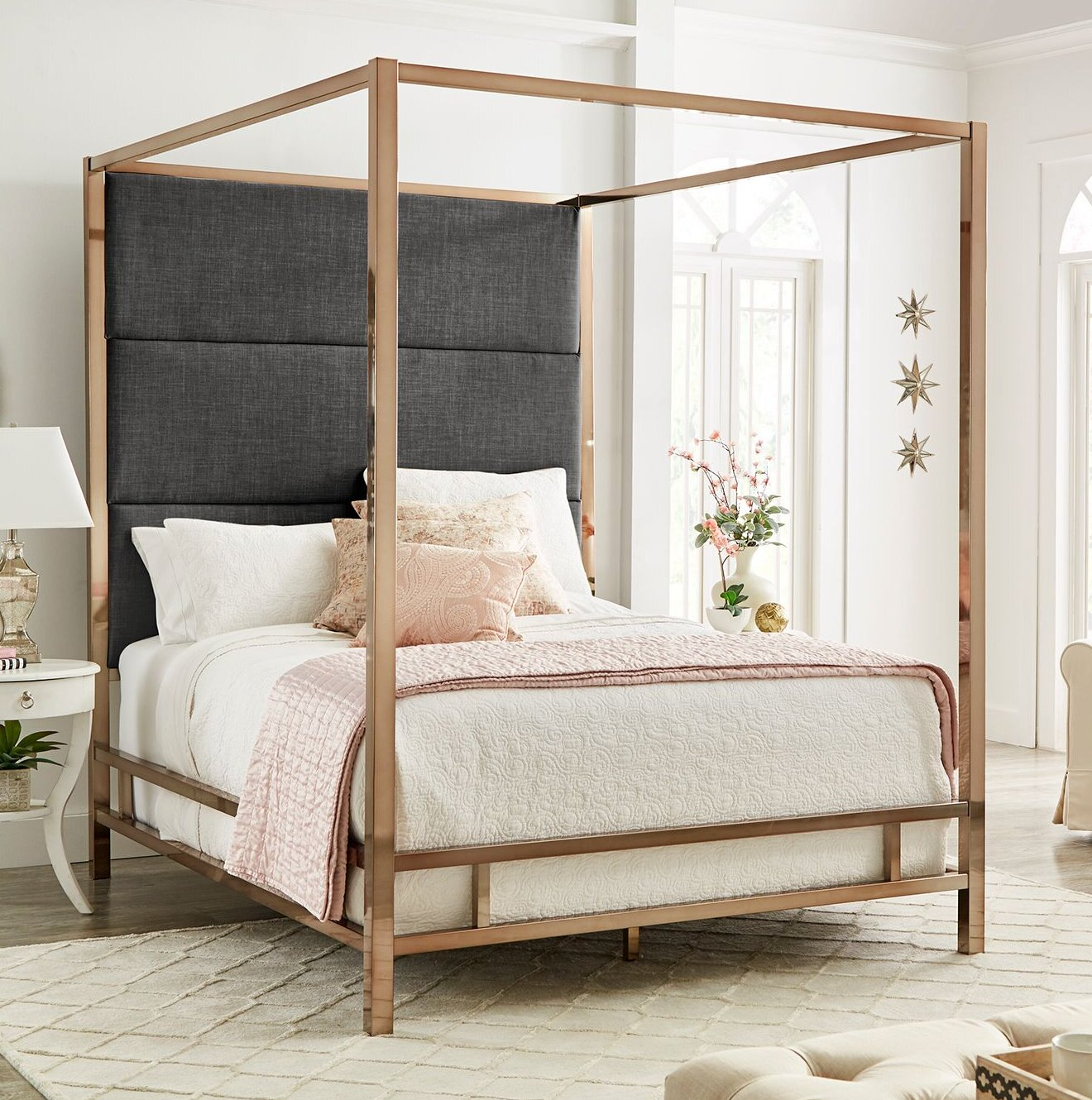 Grey Upholstered Canopy Beds You Ll Love In 2021 Wayfair