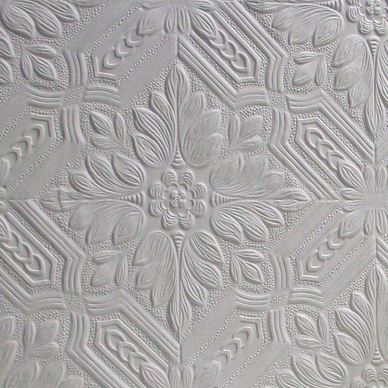 "Anaglypta Paintable Howard Supaglypta 33' x 20.5"" Damask 3D Embossed Wallpaper"