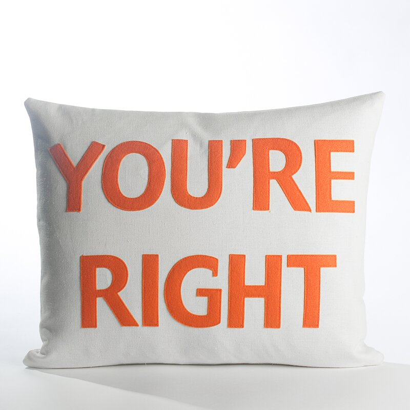 Alexandra Ferguson House Rules You Re Right Throw Pillow Wayfair