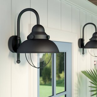 Corbel 1-Light 100W Outdoor Barn Light by Beachcrest Home