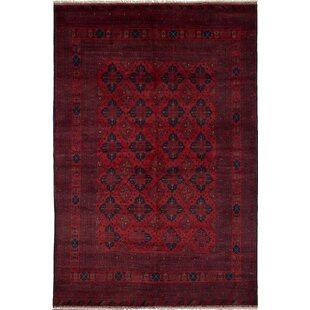 Great choice One-of-a-Kind Aaron Finest Khal Hand-Knotted Wool Red/Black Area Rug By Isabelline