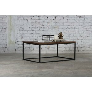 Clarie Iron and Wood Coffee Table by Gracie Oaks