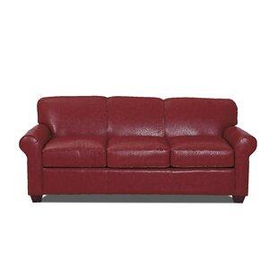 Jennifer Leather Sofa by W..