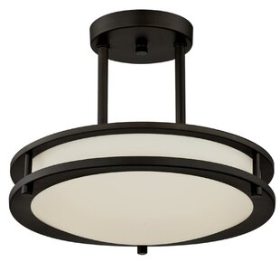 Upminster 1-Light LED Semi-Flush Mount by Winston Porter