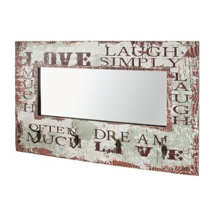 Wall Mounted Coat Rack With Mirror By Borough Wharf