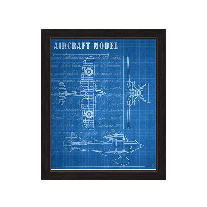 Click wall art aircraft blueprint framed graphic art on canvas aircraft blueprint framed graphic art on canvas malvernweather Gallery