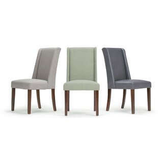 Boudreau Deluxe Upholstered Dining Chair (Set of 2) Canora Grey