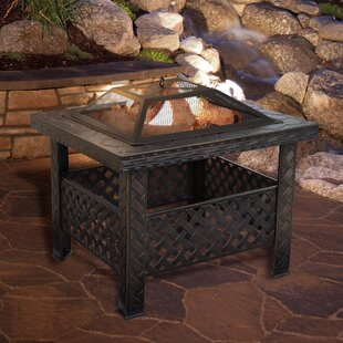 Pure Garden Steel Wood Burning Fire Pit T..