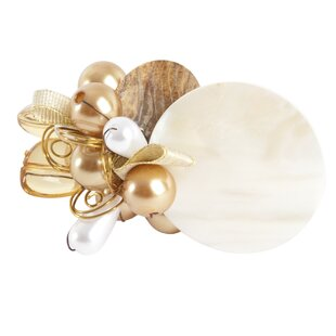 Faux Pearl Napkin Rings (Set of 4)