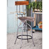 Taggart Adjustable Height Bar Stool by 17 Stories
